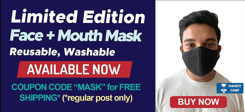 HC Face Mask with Free Regular Post Shipping by applying Mask code