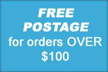 free postage over 100