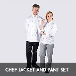 chef jacket and pant set