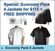 Special 4 Jackets for $115 and free shipping