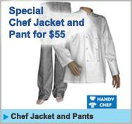 Chef Jacket and Pants Specials