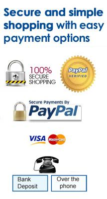 Secure and simple shopping with easy payment options