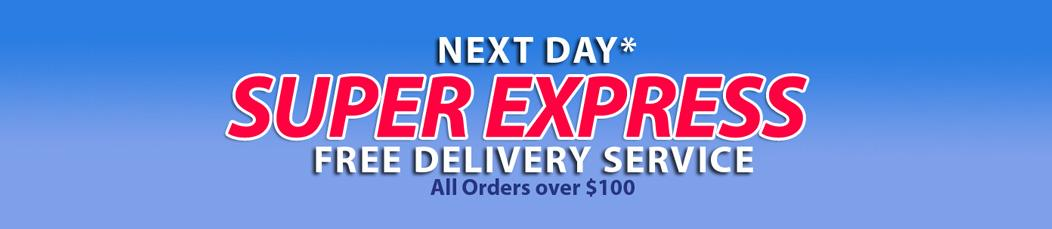 Next Day Super Express offer for purchase of Chef Jackets, Chef Pants, Chef Aprons and Chef hats