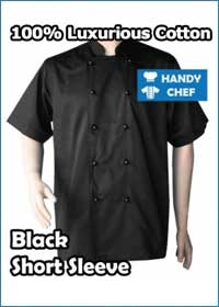 Black Short sleeve jacket with black buttons