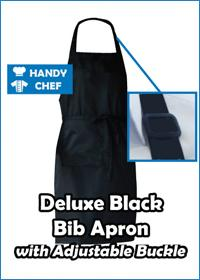 Deluxe Bib Apron with Adjustable Buckle