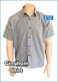 Chef / Restaurant Gingham Style Shirt