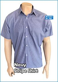 Chef / Restaurant Navy Stripe Shirt
