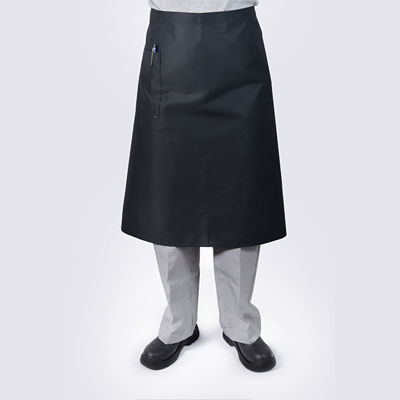 Black Long Chef Aprons with Pocket