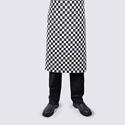 Chef Long Aprons Checkered