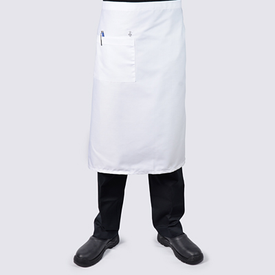 White Long Chef Aprons with Pocket