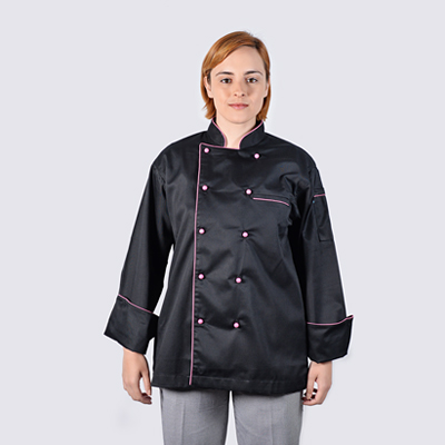 Chef Jacket Pink Long Sleeve 400