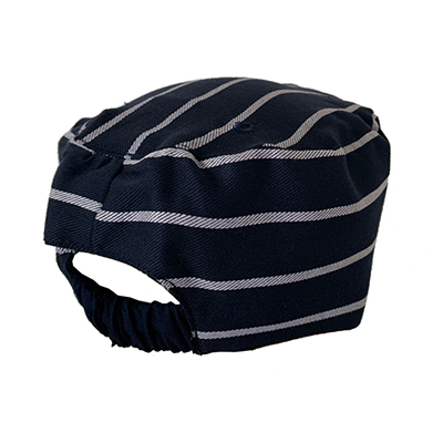 Chef caps Navy Pin Striped