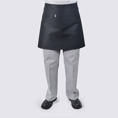 Short Chef aprons in Black