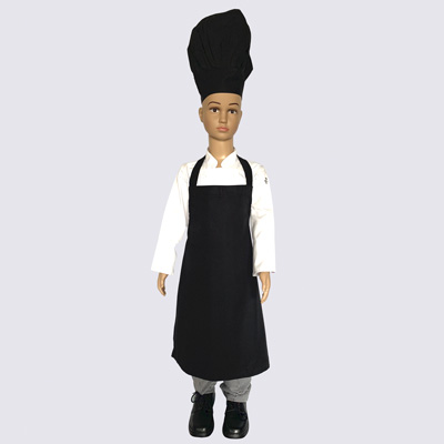 Black Junior Chef Hat and Aprons