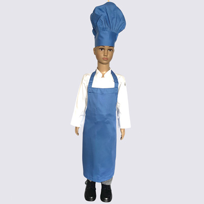 Blue Junior Chef Hat and Aprons