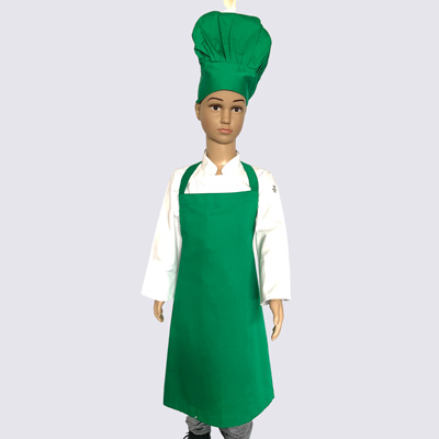 Green Junior Chef Hat and Aprons