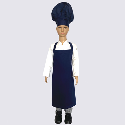 Midnight Blue Junior Chef Hat and Aprons