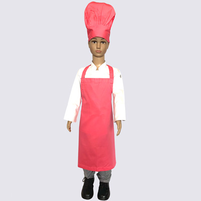 Pink Junior Chef Hat and Aprons