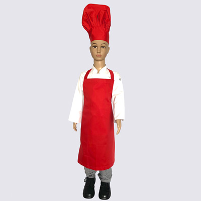 Red Junior Chef Hat and Aprons