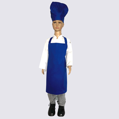 Royal Blue Junior Chef Hat and Aprons