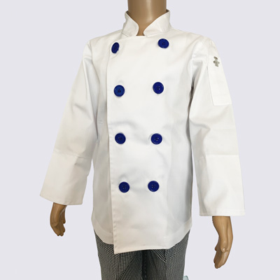 Kids Chef Jacket with Blue Buttons