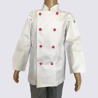 Kids Chef Jacket with Red Buttons