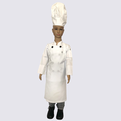 Kids Chef Uniforms complete kit with Black Buttons
