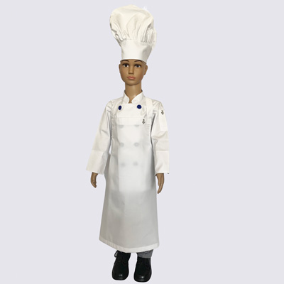 Kids Chef Uniforms complete kit with Blue buttons