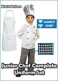 Black Junior CHef Complete Kit