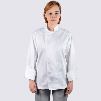 Chef jackets White Long Sleeve with Stud Buttons
