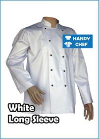 White Long Sleeve with Black Buttons
