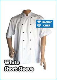 White Short Sleeve with Black Buttons