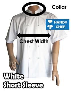 white short sleeve chartsize