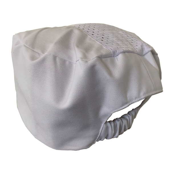 White Cool Breeze Flat Hat with Air Flow Mesh Top