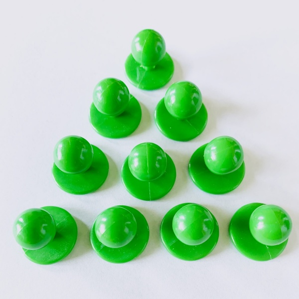 Green Chef Jacket Buttons